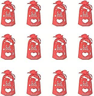 cappelli di Babbo Natale 6 pezzi piccoli pantaloni e decorazione per bicchieri da vino decorazione natalizia Set di 12 posate posate costume con 6 biglietti di Natale decorazione natalizia