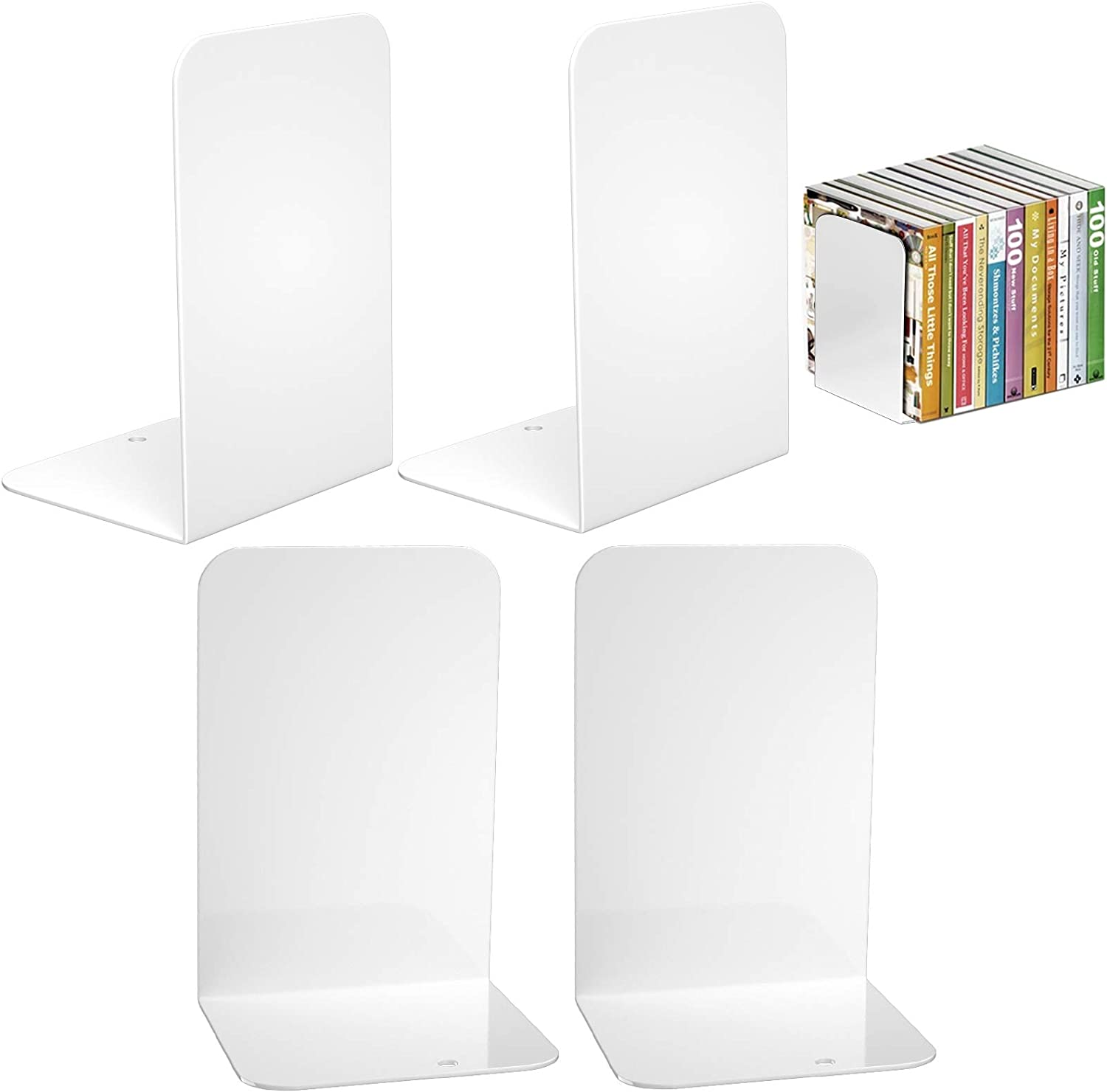VFINE Book Translated Ends 2021 Premium Bookends Metal for White Shelves E