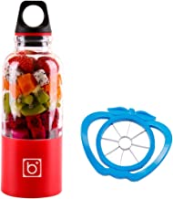 Portable Juicer Cup + Cutting Fruit Slicer - USB Rechargeable, 500ml, Electric Blender - Blend Fruits, Vegetables, Baby Fo...