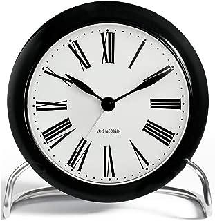 Arne Jacobsen Table Clock Roman with Alarm