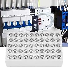 Interruptor de botão LED, 24V Metal 4 pinos 50pcs 12mm Interruptor de botão momentâneo, contator de cabeça plana para acio...