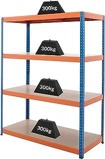Certeo Etagère pour cave | HxLxP - 180 x 140 x 60 cm | Charge maximale de 300 kg par étagère | Profondeur 60 cm | Charge t...