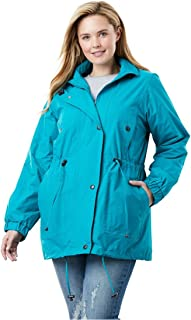 92cea1111af Woman Within Plus Size Fleece-Lined Taslon Anorak
