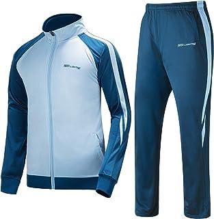 Men's Outdoor 2 Piece Jacket Pants Track Suit Sport Sweat Suit Set