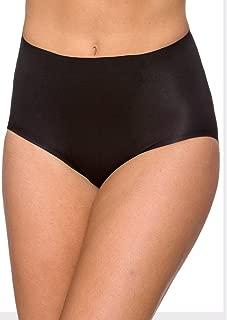LaSculpte Womens Shapewear Tummy Control Seamless Briefs Microfiber No Show Invisible Underwear Panties Slimming Girdles Body Shaper, Black/Nude, 10-22