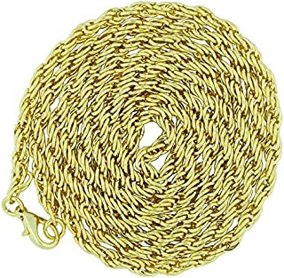 Goldtone Rope Style Chain Necklce