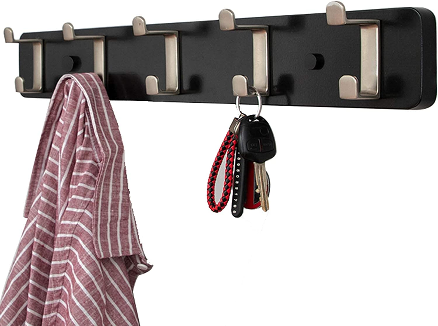 HLWJXS Coat Rack Max 65% OFF 5-Hook Wall Hooks In a popularity Hangin 24 inch for