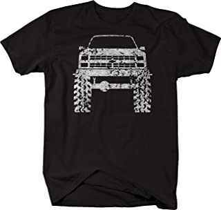Distressed - 1980's 90's Chevy K5 Blazer Lifted Tires Truck Tshirt