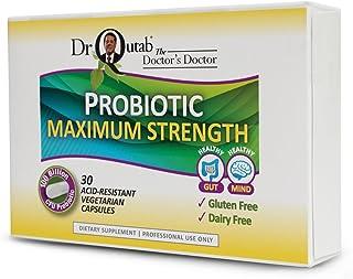 Dr Qutab The Doctor's Doctor, Probiotic Maximum Strength, 100 Billion CFU Probiotic, 30 Acid Resistant Vegetarian Capsules...