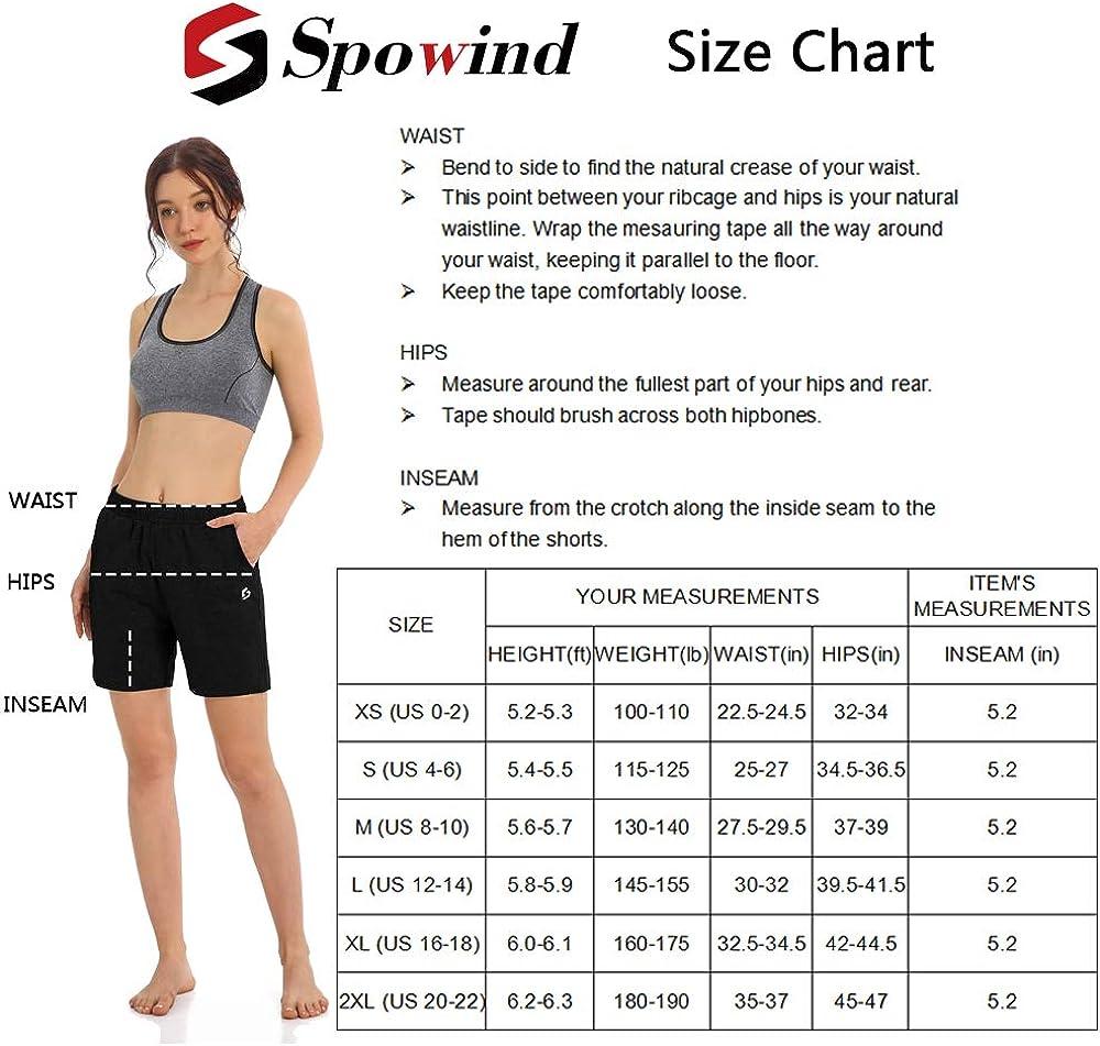 Womens 5 Activewear Lounge Bermuda Shorts Gym Jogger Yoga Shorts with Pockets