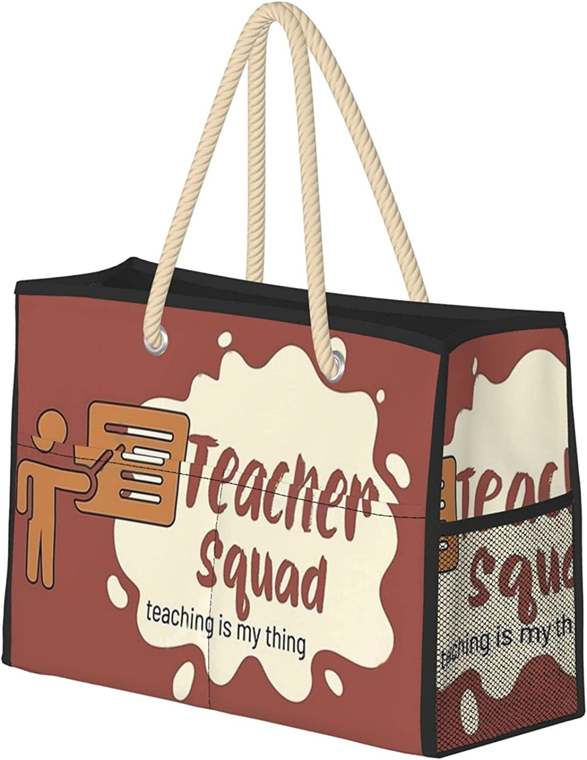 Max 61% OFF Teaching is my thing teacher squad for Max 64% OFF Women Extra Beach Lar Bag
