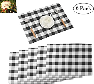 Best black and white placemats and napkins Reviews