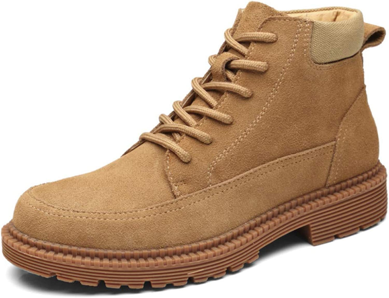 FCBDXN Herren Outdoor High-Top Martin Stiefel Runde-Toe Casual Stiefel Bequeme Atmungsaktive Leichte Schuhe Wandern    Louis, ausführlich