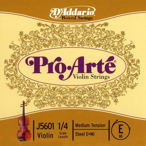 D'Addario J5601 1/4M - Cuerda para violín en Mi, 1/4 (tensión media)
