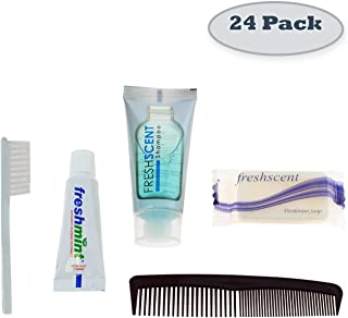 24 Kits - Bulk Case of Wholesale Basic Hygiene & Toiletry Kits for Men, Women, Travel, Charity