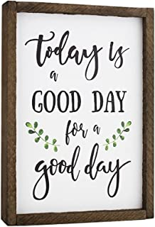 Elegant Signs Today is A Good Day for A Good Day Funny Framed Wood Sign Rustic Funny Sign Rustic Wall Art Gift for Friend (7 x 9)