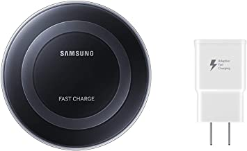 Samsung Qi Certified Fast Charge Wireless Charging Pad with 2A Wall Charger -Supports wireless charging on Qi compatible smartphones including the Samsung Galaxy S8, S8+, Note 8, Apple iPhone 8, iPhone 8 Plus, and iPhone X (US Version) - Black