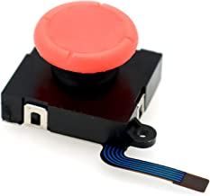 Deal4GO 3D Replacement Joysticks Analog ThumbStick Button Module for Nintendo Switch Joy-Con Controller (Red)