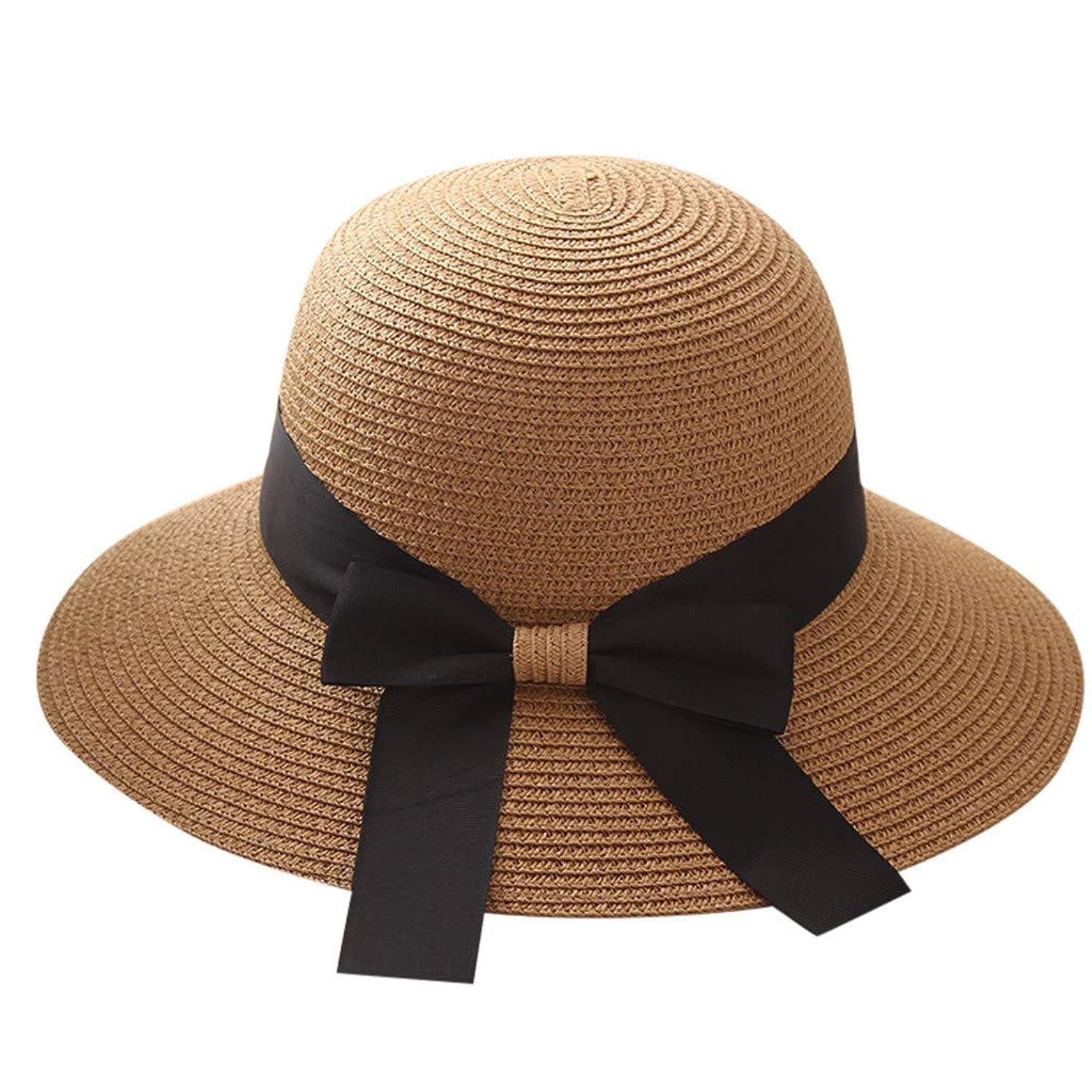 誠実さスピリチュアル見る人帽子 レディース UVカット 漁師帽 99%uvカット 日よけ 日焼け防止 熱中症予防 折りたたみ つば広 紫外線対策 麦わら帽子 uv帽 小顔効果 おしゃれ 可愛い 女優帽 高級感 軽量 通気 旅行用 大きいサイズ ROSE ROMAN