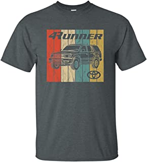Men's 2000 Toyota 4runner T-Shirt Retro 4x4 SUV Off Road SR5 Worn Faded Graphic Truck Tee