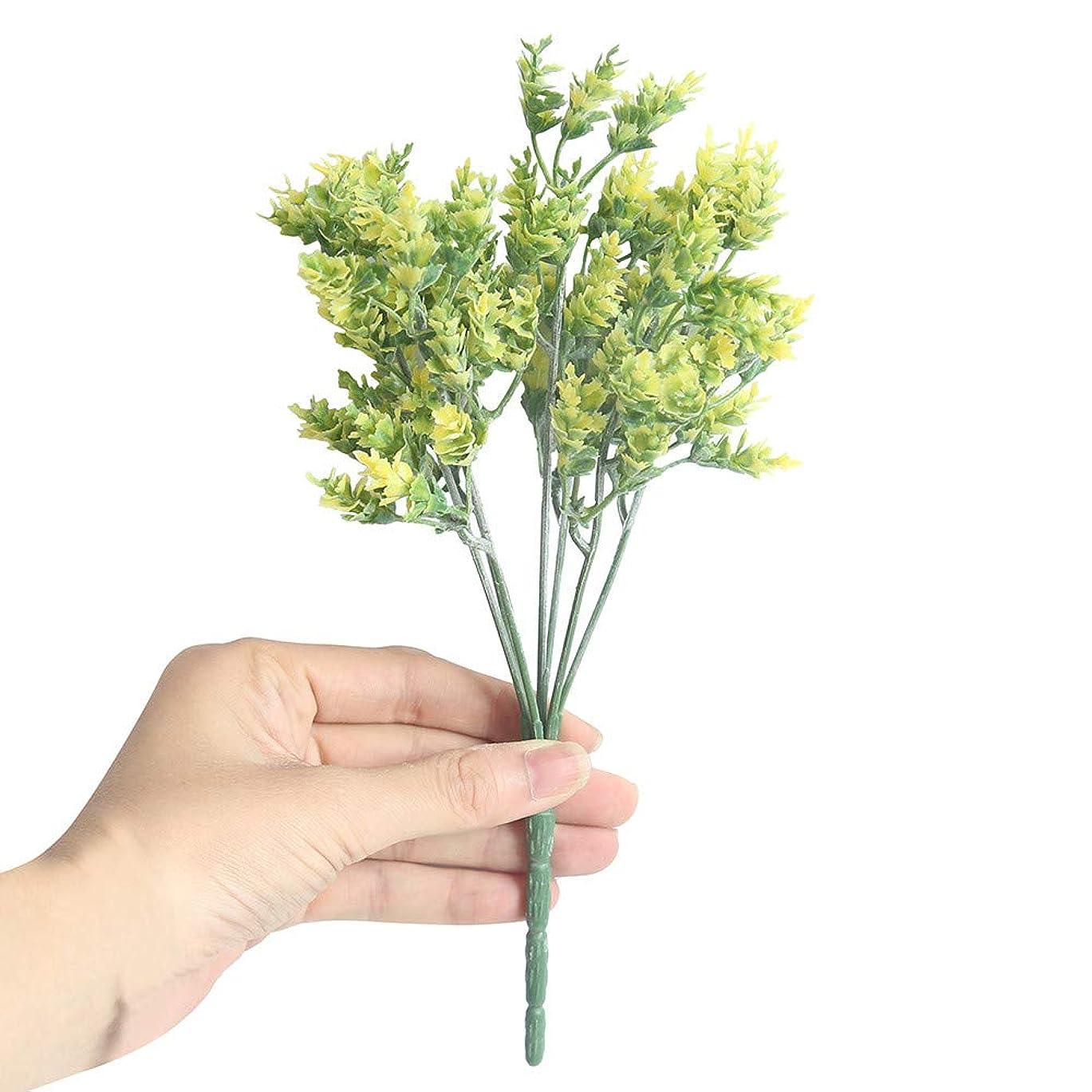 ボコダダ(Vocodada) 造花 枯れない花 ユーカリ プラスチック草 人工花 偽花 アートフラワー 置物 観葉植物 インテリア ホームデコ パーティ 飾り 贈り物 1本売り 選べる4色 (イエロー)