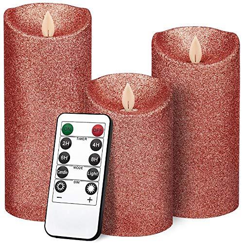 BXYY Elektronische kaars Rose gouden paraffine afstandsbediening, gesimuleerde achtervlam voet, het kaarslicht, dat met afstandsbediening is ingesteld