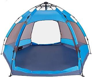 IDWOI-tält helautomatiskt sexkantigt regntätt tält, utomhus-camping-regntätt tält för familjeresor, vandring
