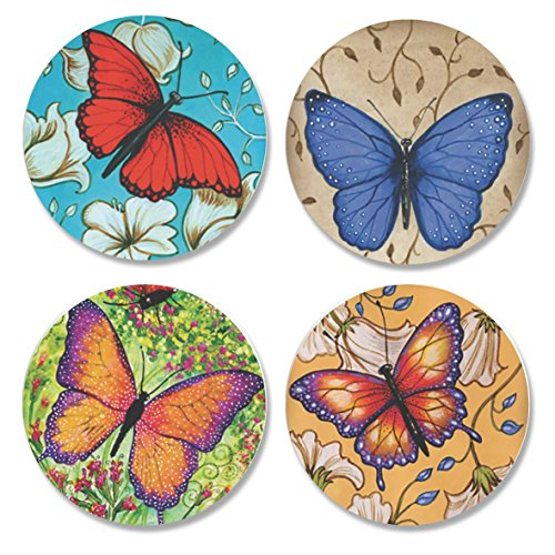 4Pack bedruckt Schneidern Schnittmuster Gewichten. Schmetterling Designs von Künstler Christine Kerrick (. Inspiriert von der BBC Nähen Bee. (50mm Durchmesser)