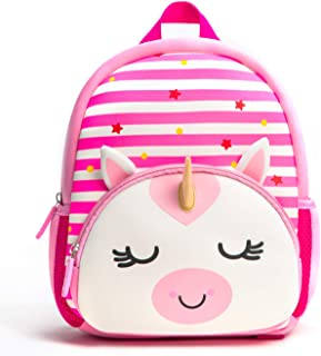 Toddler Backpack, Waterproof Preschool Backpack, 3D Cute Cartoon Neoprene Animal Schoolbag for Kids, Lunch Box Carry Bag for 1-6 Years Boys Girls, Unicorn