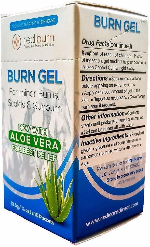 Burn Gel 15 Box Dispenser - New life 1 8oz Philadelphia Mall 3.5g Rediburn Packets Include