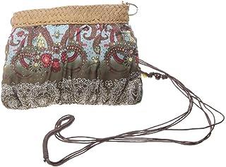 Lovoski Women's Beach Small Shoulder Cross Body Bag Ethnic Straw Handbag Messenger Purse