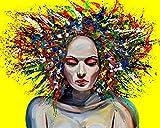 CloudShang Graffiti Arte Novela Abstracto Mujer Poster Feminismo Pintura Africano Mujer Pared Arte Impresiones Chica Regalo Mujer Dormitorio Pared Poster Feminismo H24128