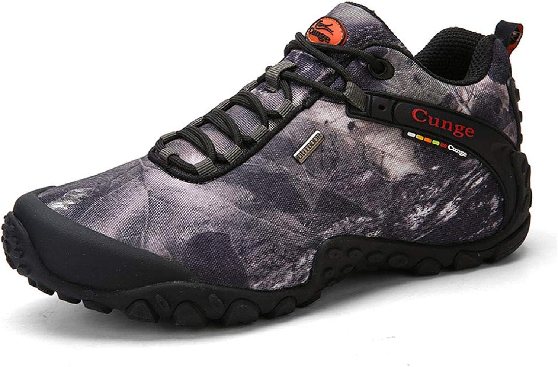 CUNGE Men's Hiking shoes Outdoor Low Trekking shoes Waterproof Climbing Walking Running Sneakers