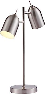 Versanora VN-L00063NB Mason Table Lamps, Chrome Finish
