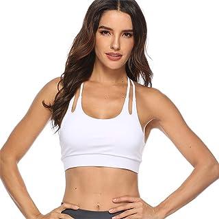 Remanlly Womens Plus Size Yoga Bra Sports Running Bra Crop Top Vest Stretch Bras Shaper