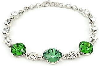 Swarovski Elements 18K White Gold Plated Green Bracelets For Her SWR-141
