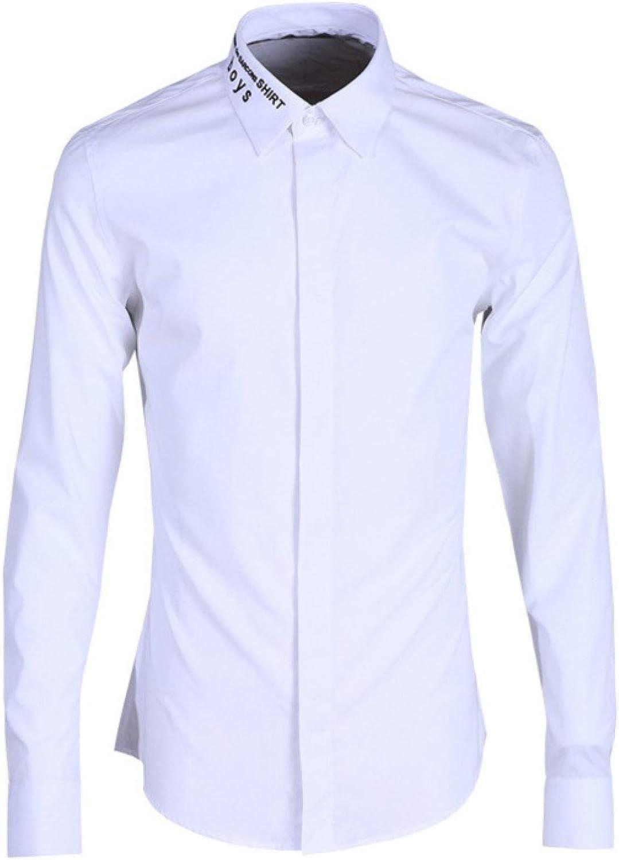 HOSD Camisa de los Hombres de la Camisa Inglesa del Bordado ...