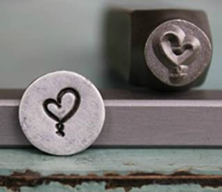 9.5 mm for Leather by Stecksstore Heart Stamp 085 3//8