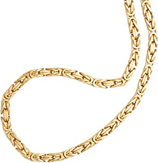 2mm thick 14k gold plated on solid sterling silver 925 Italian Byzantine, Etruscan, Birdcage, Bird's Nest, King's Braid link chain necklace bracelet anklet - 15, 20, 25, 30, 35, 40, 45, 50, 55, 60cm