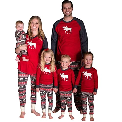 96177b41c1 ISSHE Matching Family Christmas Pajamas Kids Boys Adult Deer Pajama Sets Children's  Pajama For Couples Ladies