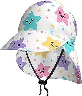 Lsjuee - Cappello da sole per bambini, con motivo a stelle, traspirante, colore: nero