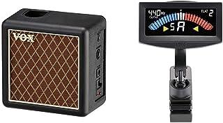 【セット買い】VOX スタックアンプ amPlug2 Cabinet 2W amPlug2用ミニアンプ 単体使用可 インテリアに最適 電池駆動 AUX IN搭載 & KORG(コルグ) ギター/ベース用 クリップチューナー PitchCrow-...