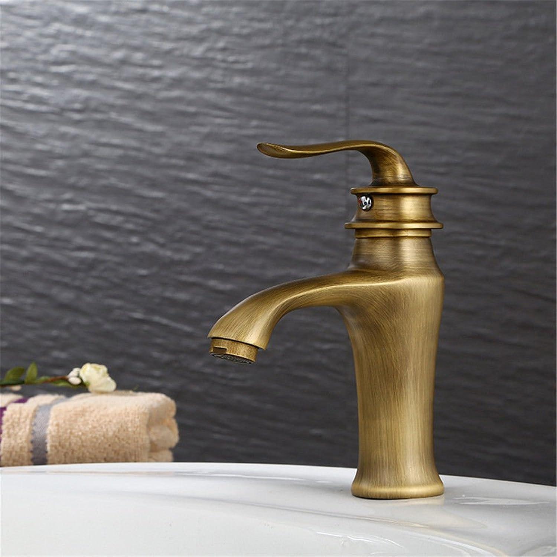 Good quality Antique Basin Sink Mixer Tap Bathroom antique faucet basin faucet brushed hot and cold faucet copper basin faucet
