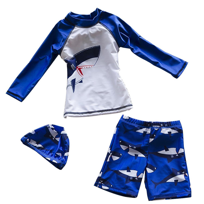 Zhhlinyuan 良質 Cute Kids Boys Swimsuit Fashion Three Piece 水泳 Swimwear 9015
