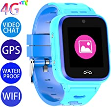 Vowor Kids Smart Watch, 4G WiFi GPS LBS Tracker SOS Emergency Call Children Smartwatches with Camera IP67 Waterproof Watch for Boys Girls, Compatible with Android/iPhone iOS (Blue, V-01)