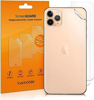 kwmobile 3x Pellicola protettiva posteriore compatibile con Apple iPhone 11 Pro- Protezione retro smartphone - Qualità pre...