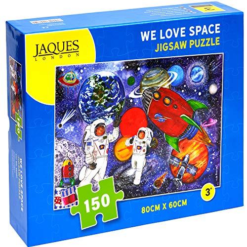 We Love Space - Rompecabezas de Jaques London para niños - Rompecabezas de 150 Piezas para niños - Rompecabezas Recomendado para niños de 6 años