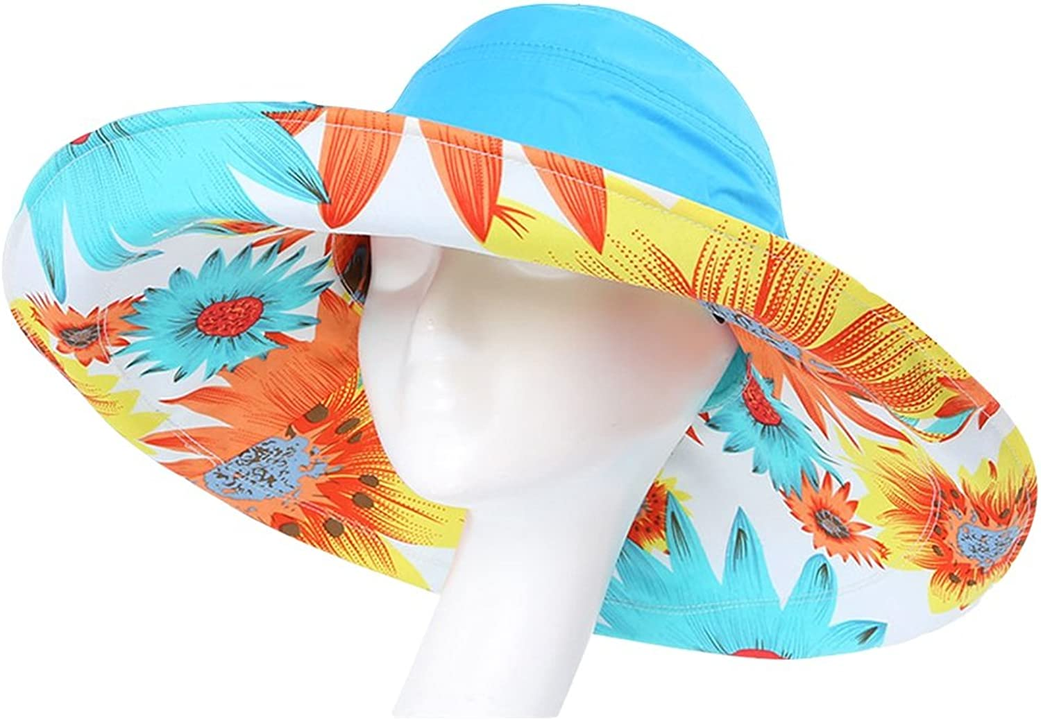 ZXQZ Hat Summer Sun Predection Collapsible Sun Hat Removable Outdoor Windproof Cool Cap Beach AntiUV Breathable Shade Hat UV Predection Cap (color   G)