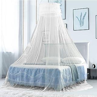 king size filet de rideau avec entr/ée double 335 inch trous fins sac de rangement 1 installation facile sans produits chimiques ajout/és Lanilianhuqa Ciel de lit moustiquaire pour lit simple
