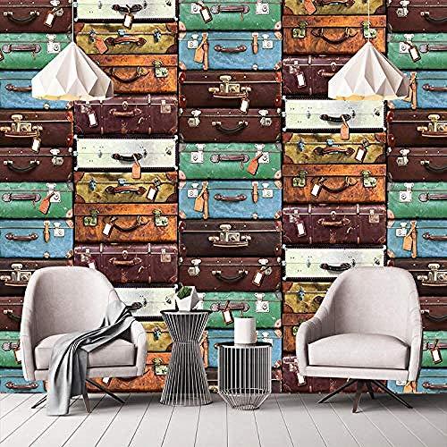Tamaño personalizado maleta europea pintura de pared papel tapiz 3D sala de estar sofá TV Fondo pared decora Pared Pintado Papel tapiz 3D Decoración dormitorio Fotomural sala sofá mural-430cm×300cm
